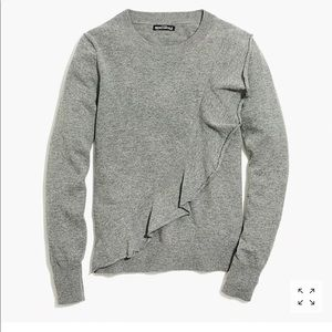 NWT J Crew Mercantile Ruffle Front Sweater